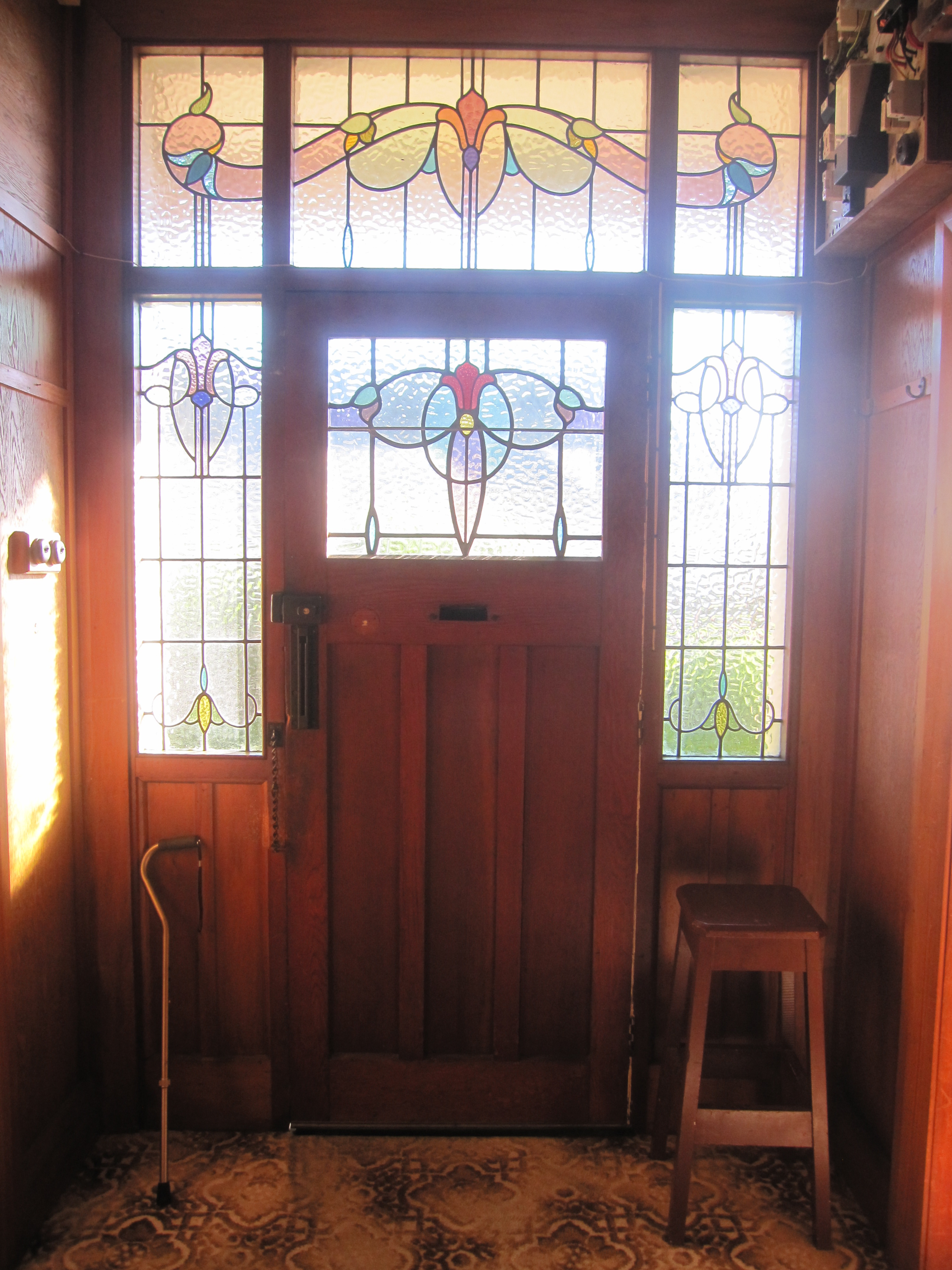 4000 #AC3F1F Stained Glass Windows Around The Front Door wallpaper Stained Glass Front Doors 40153000